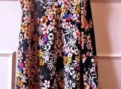 Vestido Zara negro estampado flores