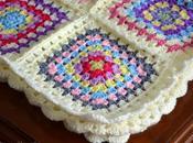 {Crochet} Granny Square Blanket manta abuela