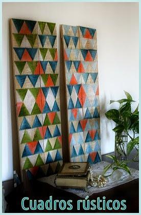 Reciclado cuadros r sticos paperblog - Cuadros para dormitorios rusticos ...