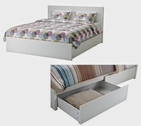 Comprar la cama en ikea paperblog for Cajones bajo cama ikea