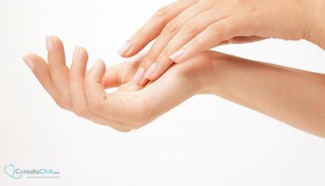 Peeling químico en las manos