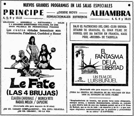 Granada; Cine Alhambra, sala especial de Arte y Ensayo