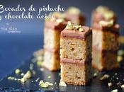 Bocados pistacho chocolate ácido