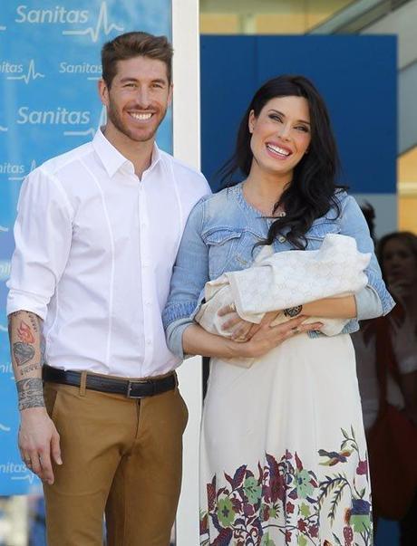 Pilar Rubio y Sergio Ramos hijo
