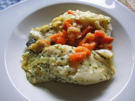 Bacalao fresco con verduras al microondas paperblog - Cocinar pescado en microondas ...