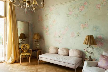 Paredes pintura y papel decorado paperblog - Salones decorados con papel ...