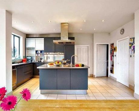 Cocinas con isla o abiertas al sal n paperblog - Cocinas pequenas abiertas al salon ...