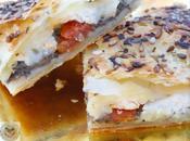Hojaldre tapenade, tomate seco queso cabra