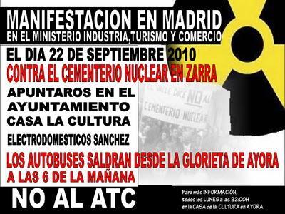 Hoy Estar En Madrid Contra El Atc En Zarra Y Donde Sea