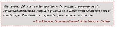 Cumbre de la ONU para el seguimiento del grado de cumplimiento de los Objetivos del Milenio