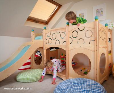 Muebles infantiles de cedro paperblog - Casa madera infantil ...