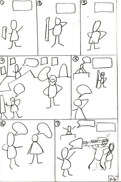 Guión De Mi Primer Practica Escribiendo Un Comic Dibujos