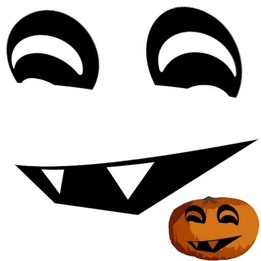 ... plantillas gratis para decorar y recortar calabazas de Halloween