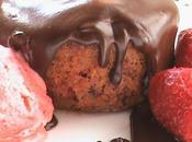 Bizcocho fresas chocolate
