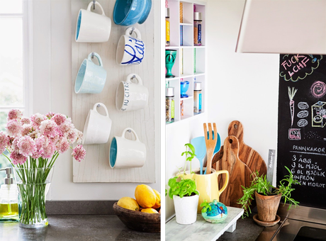 Decoraci n en rosa y turquesa en una casa escandinava for Tips de decoracion