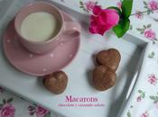 Macarons chocolate caramelo salado (corazones para Valentín cajita regalo)