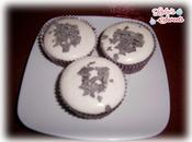 Cupcakes chocolate cream cheese frosting plátano