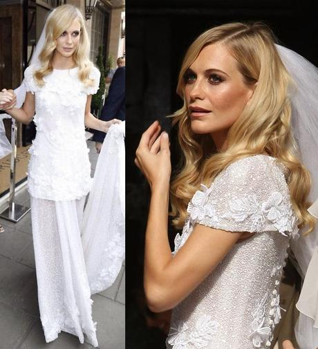 vestido de novia boda poppy delevingne wedding dress chanel