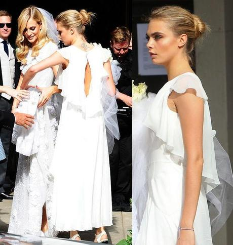 cara delevingne bridesmaid dress chanel poppy delevingne wedding