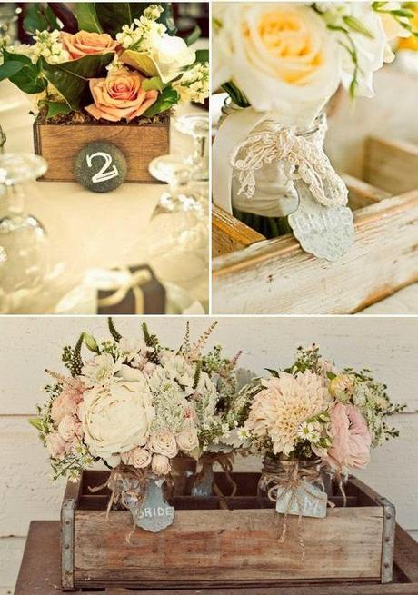 Cajas de madera para decorar tu boda paperblog - Cajas madera decoracion ...