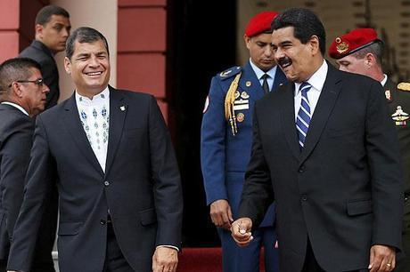 Mujica y correa critican régimen de Maduro