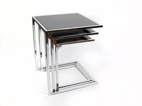 Una mesa auxiliar o tres en una paperblog - Mesitas auxiliares salon ...