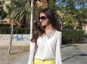 Pailletes blouse fluor shorts