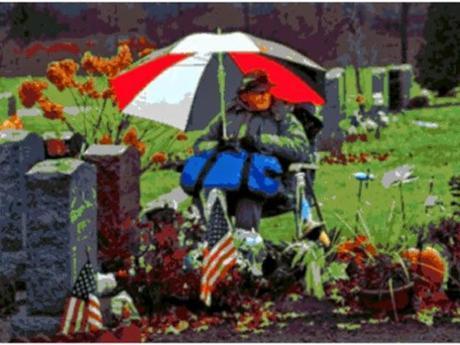 Pasó 12 años viviendo al lado de la tumba de su esposa