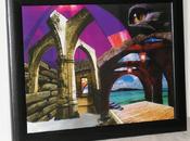 Ruinas cristal agua. Collage 30X40 interior enmarcado.