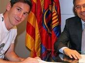 Messi firma renovación Barça