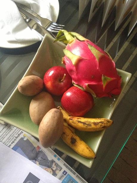 Bandeja de frutas Banyan Tree Bangkok