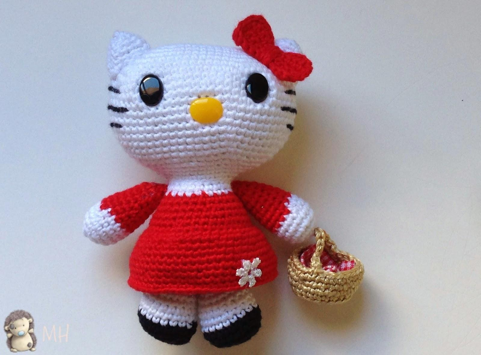 Amigurumi Schemi Hello Kitty Gratis : Butterfly Creaciones: Ello gatito Caperucita Roja ...