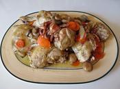 Receta: pollo vino Recipe: chicken with wine