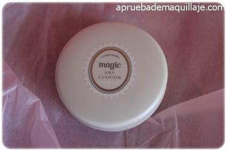 Polvera del precious mineral magic any cushion tono Magic Mint de Etude House