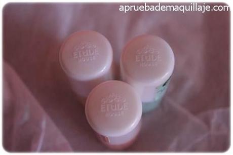 Tapones de los esmaltes de uñas play texture sugar powder nails de Etude House tonos 192,193 y 194