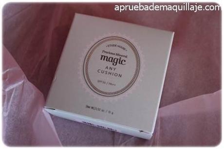 Caja del precious mineral magic any cushion tono Magic Mint de Etude House