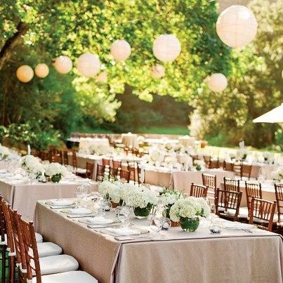 Ideas para la decoraci n del jard n en el d a de tu boda paperblog - Decoracion de bodas en jardines ...