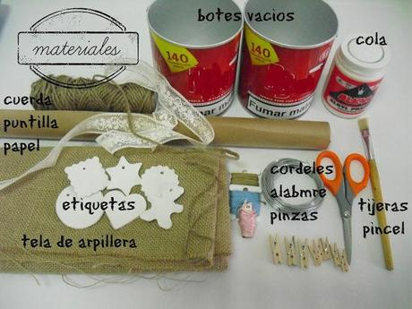 DIY Reciclar botes de carton: tutorial cubos.