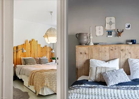 Decorando paredes con tablas de madera paperblog - Cabecero cama pintado ...