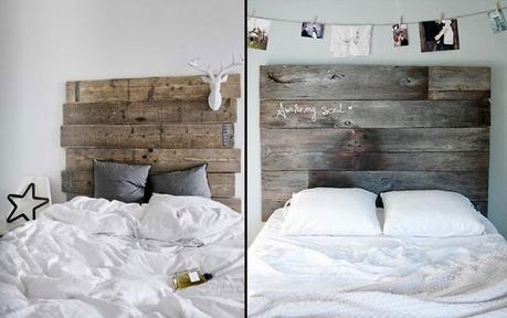 Decorando paredes con tablas de madera paperblog - Cabecero de tablas ...