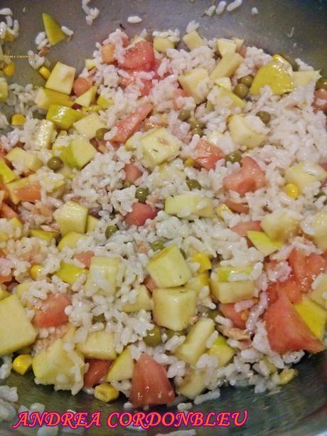 Ensalada veraniega de arroz con at n y manzana sin gluten - Ensalada de arroz con atun ...
