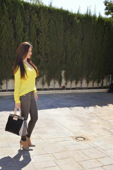 Bolso CARLINO tricolor black y total look ZARA