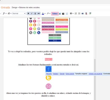 Design + Botones de redes sociales.