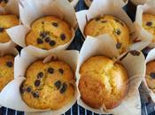 Muffins naranja, jengibre confitado pepitas chocolate