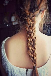 peinados semirecogidos con trenzas