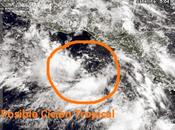Zona baja presión sudeste México chances evolucionar ciclón tropical
