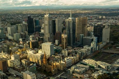 Vistas desde la Eureka Tower, Melbourne