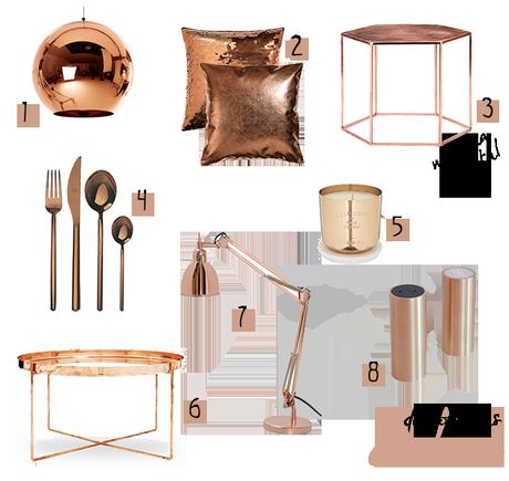 Un poco de cobre paperblog for Articulos de decoracion de cobre