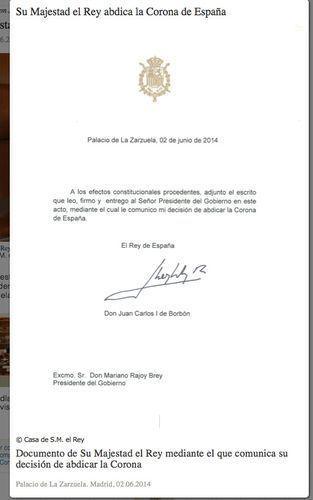 Documento de Zarzuela.