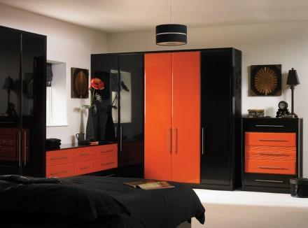 7 habitaciones decoradas en naranja y negro paperblog - Habitaciones color naranja ...